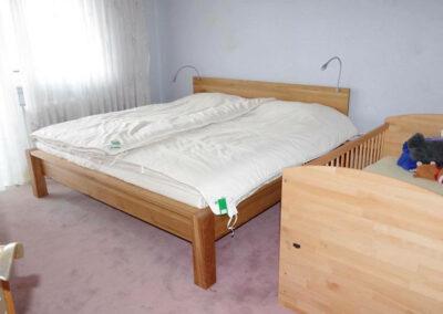 schlafzimmer Bett mit SAMINA Matraze